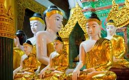 Statua di Buddha alla pagoda di Shwedagon, Rangoon, Myanmar Immagine Stock Libera da Diritti