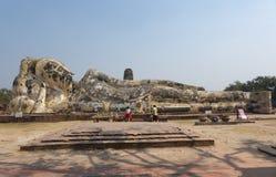Statua di Buddha in ayuddhaya Tailandia Fotografia Stock