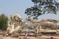 Statua di Buddha in ayuddhaya Tailandia Immagini Stock