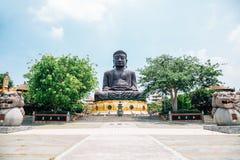 Statua di Buddha a Baguashan a Changhua, Taiwan fotografia stock libera da diritti
