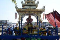 Statua di Buddha del ¸º di Shin Upaguttaà in Rangoon Fotografie Stock