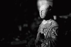 Statua di Buddha del giapponese di Ksitigarbha Jizo Ojizo-Sama Fotografia Stock