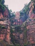 Statua di Buddha del gigante di Leshan fotografia stock