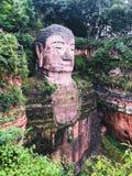 Statua di Buddha del gigante di Leshan fotografia stock libera da diritti