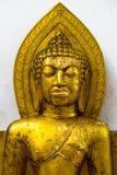 Statua di Buddha del ritratto dell'oro Fotografie Stock Libere da Diritti