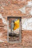 Statua di Buddha della Tailandia, punto di vista dalla finestra Fotografie Stock