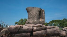 Statua di Buddha di rovina Fotografia Stock Libera da Diritti