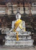 Statua di Buddha di Wat Yai Chai Mongkol Fotografie Stock