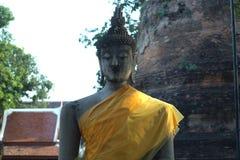 Statua di Buddha di Wat Yai Chai Mongkol Fotografie Stock Libere da Diritti