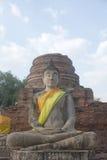 Statua di Buddha di Wat Yai Chai Mongkol Fotografia Stock