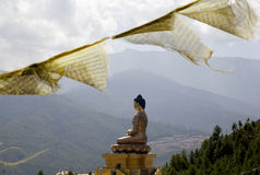 Statua di Buddha a Kuensel Phodrang in Thimpu Fotografia Stock Libera da Diritti