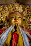 Statua di Buddha in monastero Fotografia Stock
