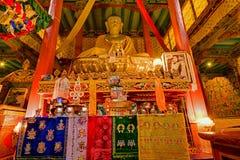 Statua di Buddha, monsatery di Hemis, Leh, Ladakh, il Jammu e Kashmir, India Fotografie Stock Libere da Diritti