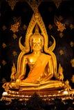Statua di Buddha in Pitsanulok Tailandia Fotografie Stock