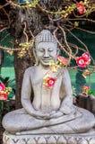 Statua di Buddha in Royal Palace a Phnom Penh Fotografie Stock Libere da Diritti