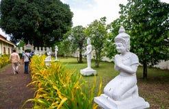 Statua di Buddha in Royal Palace a Phnom Penh Immagini Stock