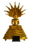 Statua di Buddha sotto il serpente fotografie stock