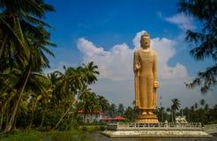 Statua di Buddha su un fondo delle nuvole Fotografia Stock Libera da Diritti