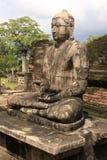 Statua di Buddha in tempiale antico, Polonnaruwa, S Immagini Stock Libere da Diritti