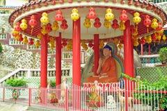 Statua di Buddha in tempiale cinese Immagini Stock Libere da Diritti