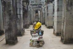Statua di Buddha, tempio di Bayon, Angkor Thom, Angkor Wat, Cambogia Fotografia Stock