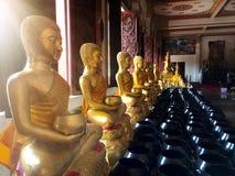 Statua di Buddha in tempio pubblico, Khonkaen Tailandia Fotografie Stock