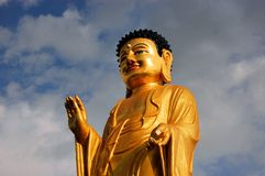 Statua di Buddha a Ulan Bator mongolia Immagini Stock Libere da Diritti