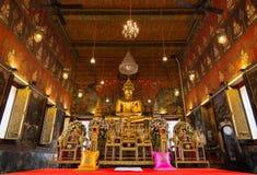 Statua di Buddha a Wat Saket, punto di riferimento di viaggio Fotografia Stock Libera da Diritti