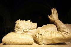 Statua di Camoes, monastero di Jeronimos, Portogallo Fotografie Stock