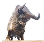 Statua di carico del toro nella borsa valori di Shenzhen Fotografie Stock Libere da Diritti