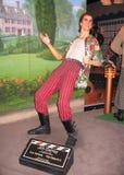 Statua di cera di Jim Carrey come Ace immagine stock
