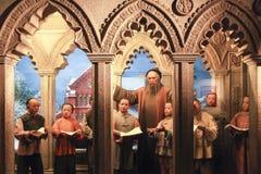 Statua di cera nel museo municipale di storia di Shanghai Fotografia Stock