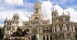 Statua di Cibeles a Madrid Fotografia Stock Libera da Diritti