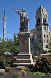 Statua di Columbus in Scranton fotografia stock