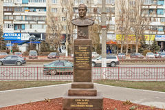 Statua di comandante militare, maresciallo dell'Unione Sovietica Georgy Zhu Fotografie Stock Libere da Diritti