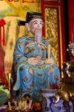 Statua di Confucio in tempio cinese Fotografia Stock Libera da Diritti