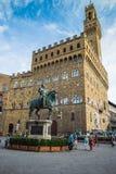 Statua di Cosimo I de Medici fotografia stock