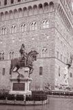 Statua di Cosimo I de Medici Equestrian da Giambologna, Firenze immagini stock