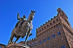 Statua di Cosimo I de Medici, Firenze, Italia Fotografie Stock Libere da Diritti