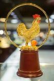 Statua di cristallo del gallo Fotografia Stock Libera da Diritti