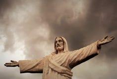 Statua di Cristo a Cusco, Perù Fotografie Stock Libere da Diritti