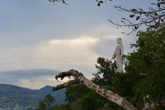 Statua di Cristo del Picacho a Tegucigalpa, Honduras immagine stock libera da diritti