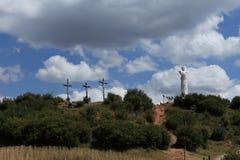 Statua di Cristo di Cuzco Fotografie Stock Libere da Diritti