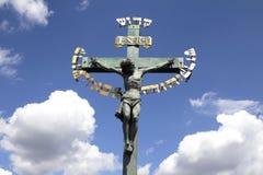 Statua di crocifissione fotografia stock