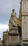 Statua di dante a Firenze Fotografia Stock