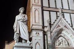 Statua di Dante a Firenze immagini stock libere da diritti