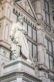 Statua di Dante a Firenze fotografia stock libera da diritti