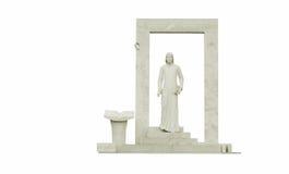 Statua di Dante - isolato. Immagine Stock