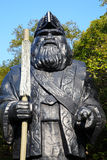Statua di Dio del villaggio ainu nell'Hokkaido, Giappone Fotografie Stock