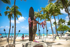Statua di Duke Kahanamoku, Honolulu Immagini Stock